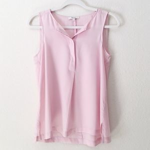 Madewell | Silk Composition Tank Top Pink XS
